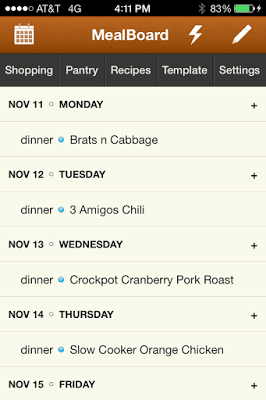 MealBoard: Meal Planning, Grocery Shopping and Recipe Organization Sanity – in one App!