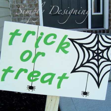 PB Knock-off Halloween Wooden Signs