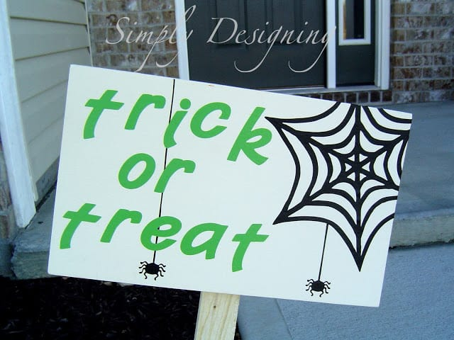 Trick or Treat Halloween Sign by Simply Designing