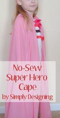 No-Sew Super Hero Cape