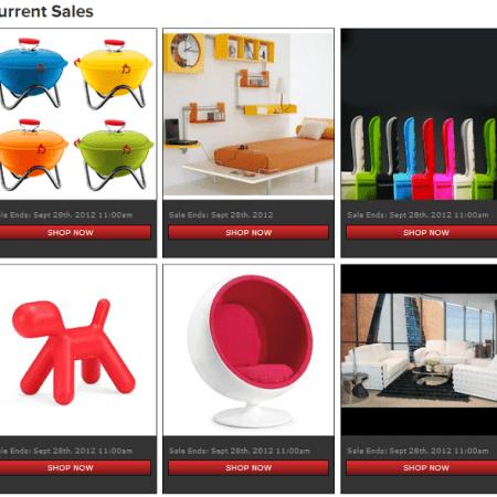 Contemporary Flash Sale Website