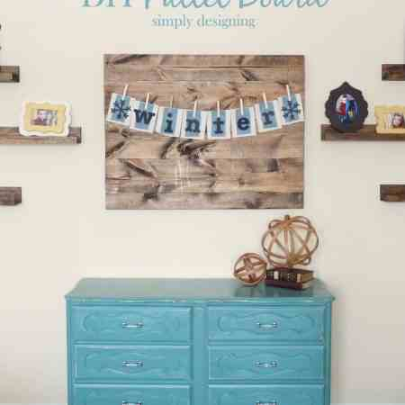 DIY Distressed Pallet Board
