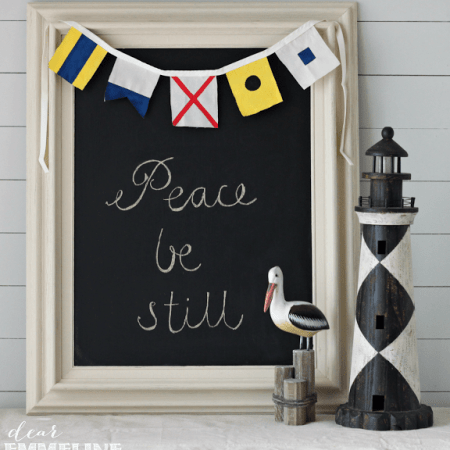 DIY Maritime Flag Bunting {Color My Home Summer Blog Series}