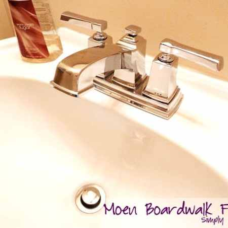 How to Install a New Bathroom Faucet in a Pedestal Sink #MoenDIYer