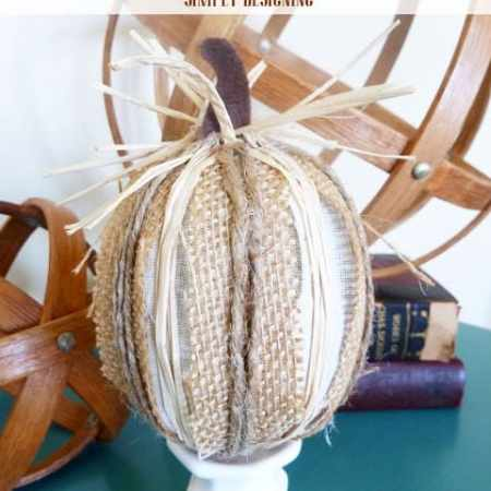 Burlap Harvest Pumpkins {Pottery Barn Inspired}