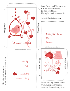 10 Days of Valentine – Day 5:  Seed and Tea Packet Holders