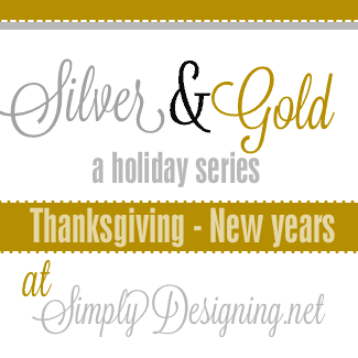Simple Silver Metal Garland {Silver and Gold Holiday Series}