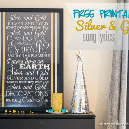Silver and Gold Song Lyrics {Free Printable} {Silver and Gold Holiday Series}