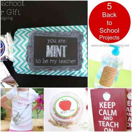 Back to School Ideas made with a Silhouette