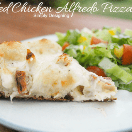 Grilled Chicken Alfredo Pizza + grill giveaway