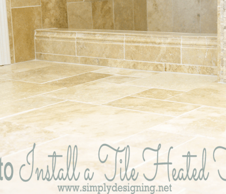 Master Bathroom Remodel: Part 7 { How to Install Radiant Heated Tile Floors }