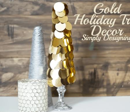 Gold Holiday Tree Decor