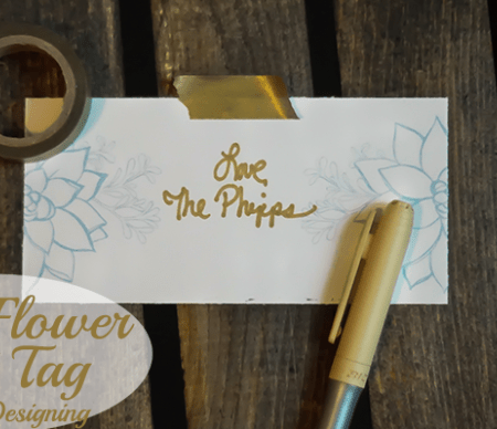 Mod Flower Book Gift Tag