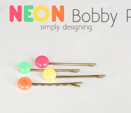DIY NEON Bobby Pins