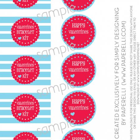 Valentines Bracelet Kit Printable