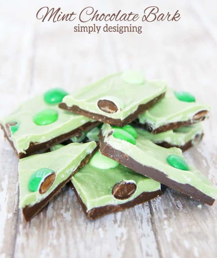 mint chocolate bark 1