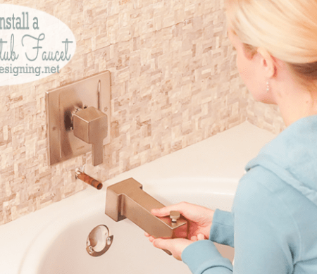 Master Bathroom Remodel: Part 10 { How to Install a Bathtub Faucet }