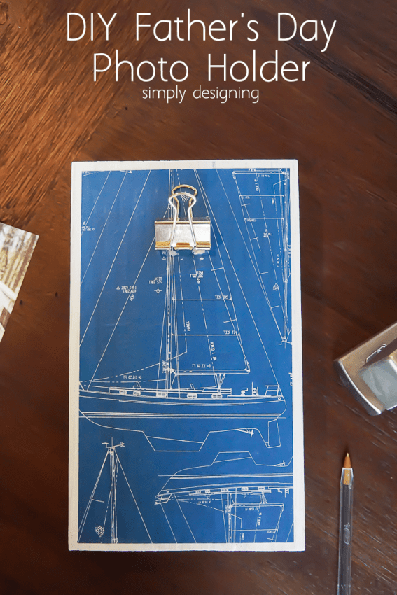 Nautical Themed DIY Fathers Day Photo Holder