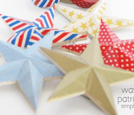 Washi Tape Patriotic Stars