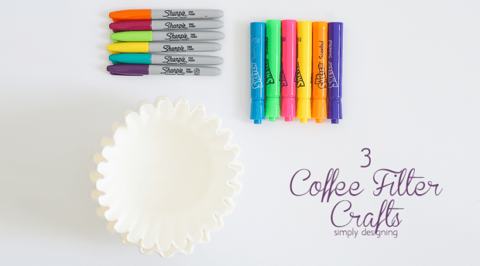 3 Coffee Filter Crafts