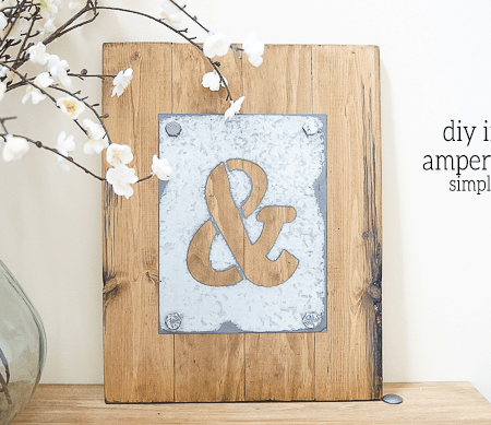DIY Industrial Ampersand Decor