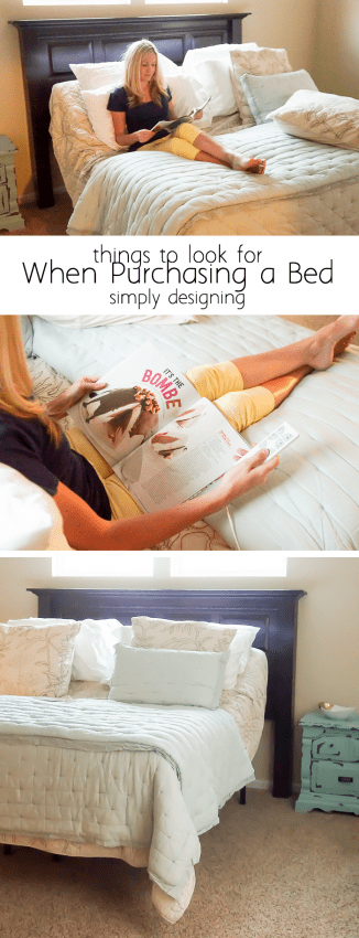 what to look for when purchasing a new bed
