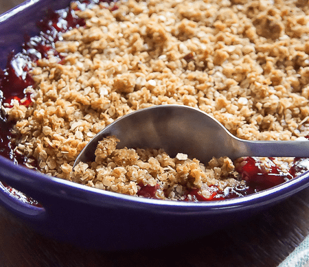 Simple Cherry Crisp Recipe