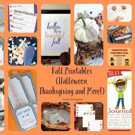 Fall Printables – Halloween, Thanksgiving and More!