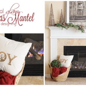 Natural Glam Christmas Mantel