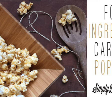 Quick 4-Ingredient Caramel Popcorn Recipe