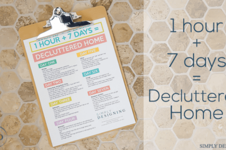 Declutter Your Home in Just 7 Hours   That s 1 Hour a Day for 7 Days Here s how to spend 1 hour per day for 7 days to declutter your home and