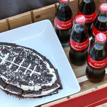 OREO Football Refrigerator Cake Recipe