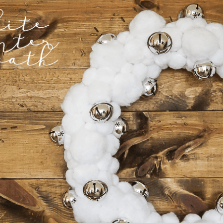 Beautiful White Winter Wreath