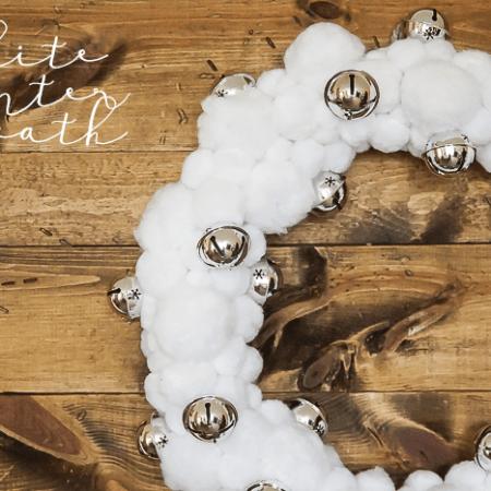 Beautiful White Winter Wreath