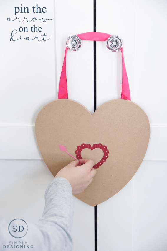 Pin the Arrow on the Heart Valentines Game - a fun game for valentines day