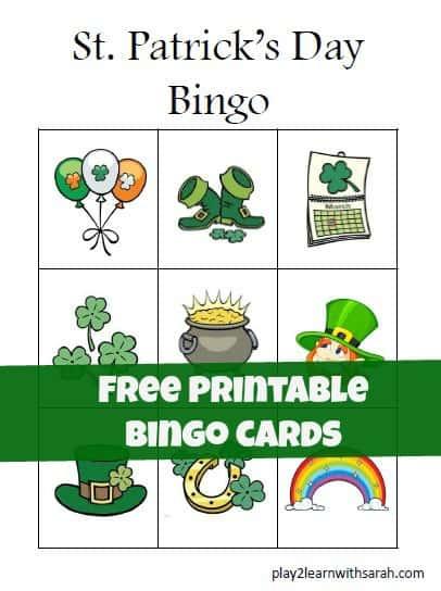 Unforgettable image regarding st patrick's day bingo printable