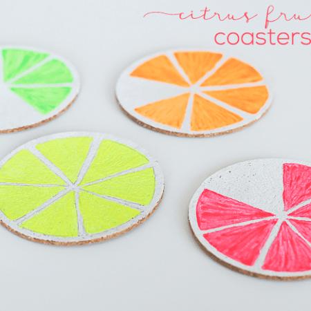 DIY Citrus Fruit Coasters