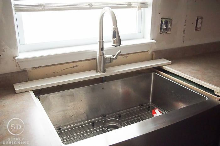 temporarily install a kitchen faucet