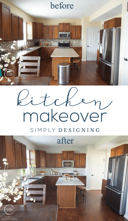 Kitchen Reveal before and after