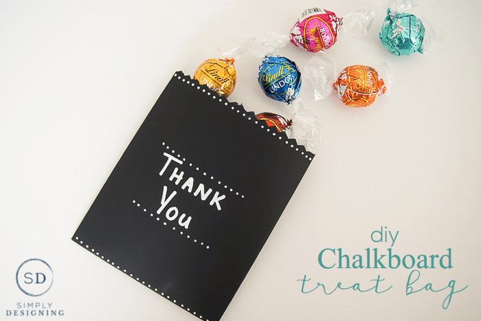 DIY Chalkboard Treat Bag