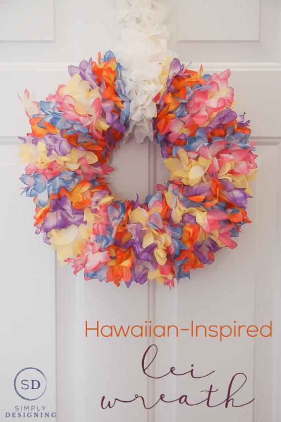 Hawaiian Inspired Lei Wreath