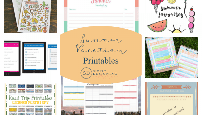 Summer Vacation Printables