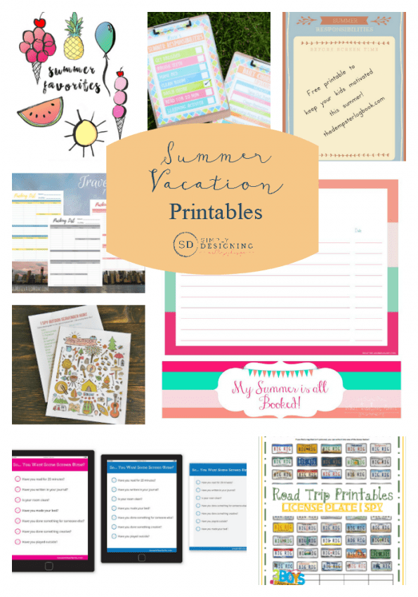 Summer Vacation Printables Final