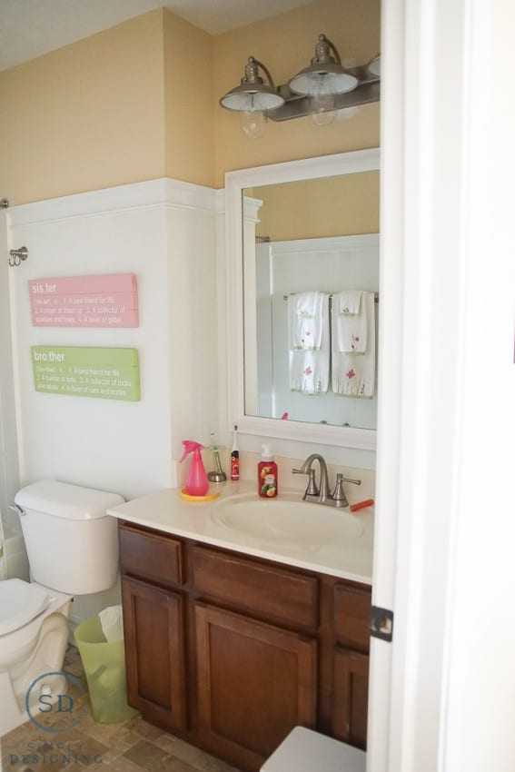kids bathroom makeover bathroom makeover 13334