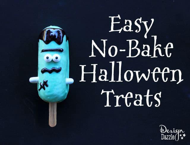 Frankenstein Halloween No Bake Treats with Snack Cakes by Design Dazzle