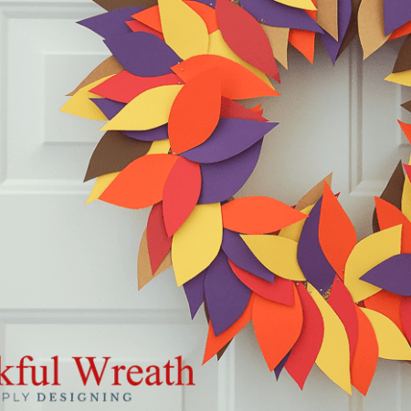 Simply Thankful Wreath Thanksgiving Craft