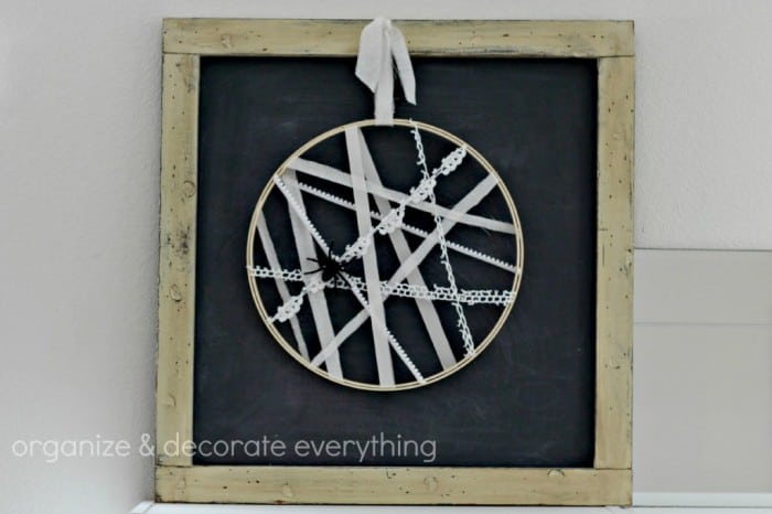Spider Web Hoop Wreath by Organize Your Stuff Now