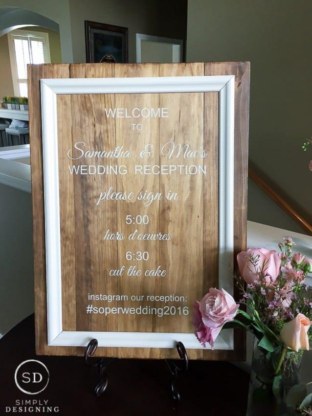 DIY Welcome Wedding Sign