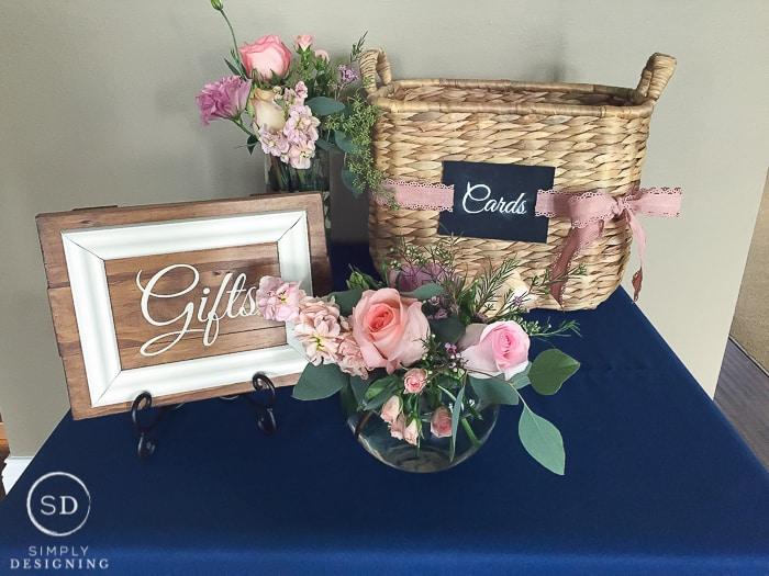 DIY Wedding Gift Sign