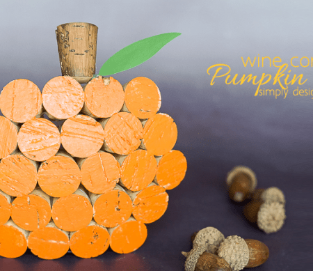 Wine Cork Pumpkin Decor